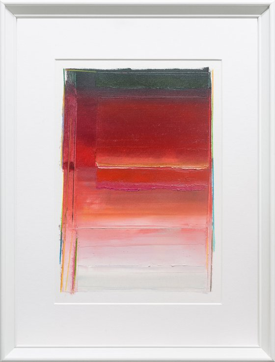 Modern Abstract Oil Painting, BREATHE- A#02, 30x40cm, Framed and Ready to Hang