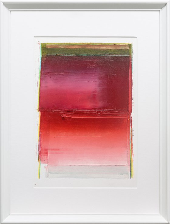 Modern Abstract Oil Painting, BREATHE- A#03, 30x40cm, Framed and Ready to Hang