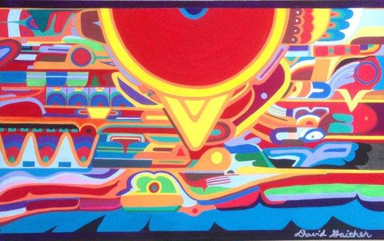 """The Sun Mural"""