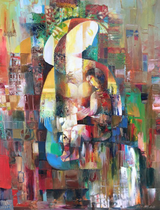 Love and tenderness (56x80cm oil/canvas)