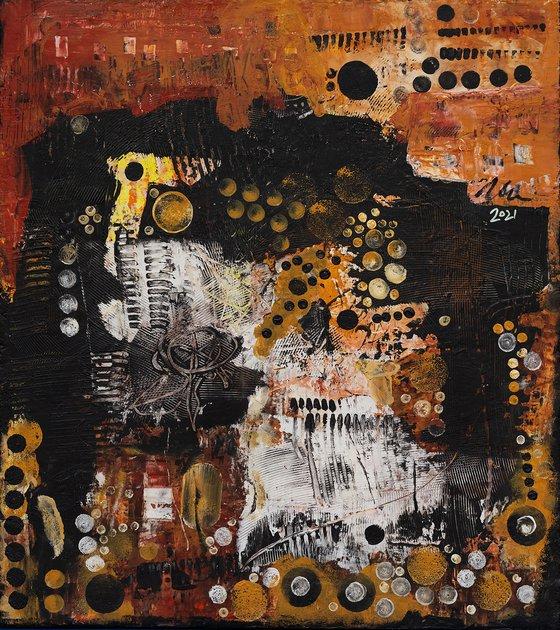 Bird Nest - Abstract painting