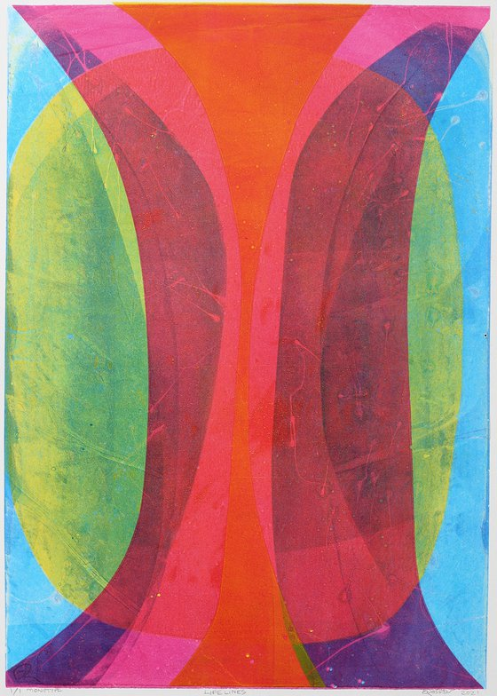 Life Lines - Unmounted Signed Monotype