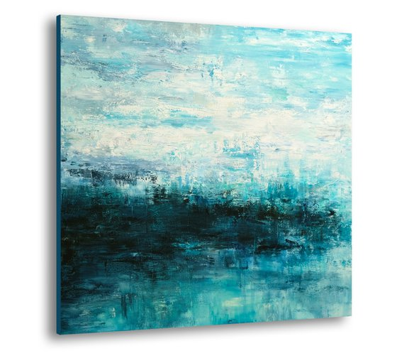 Abstract Seascape #24, Original abstract painting, Ready to hang