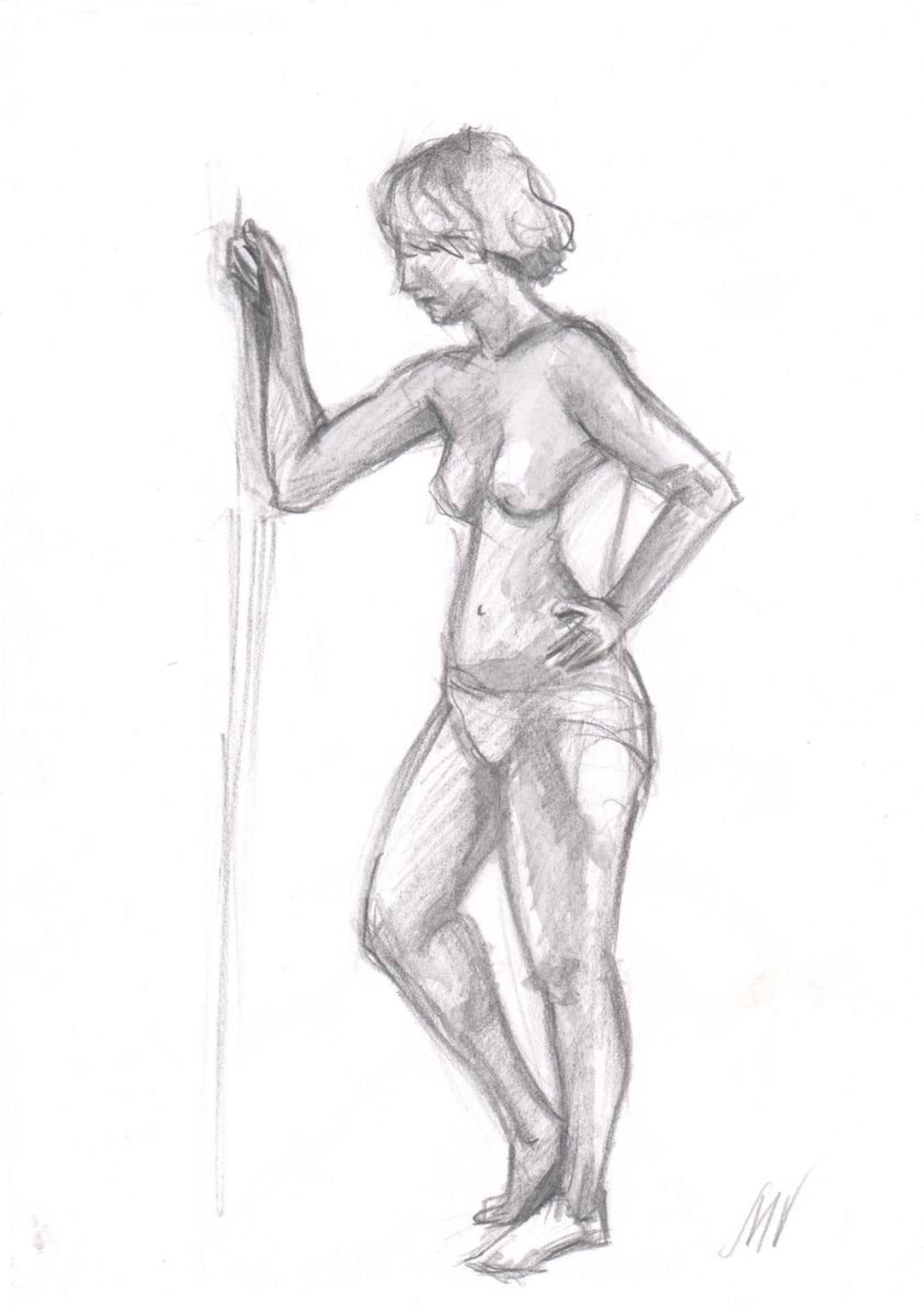 Sketch of human body woman 19