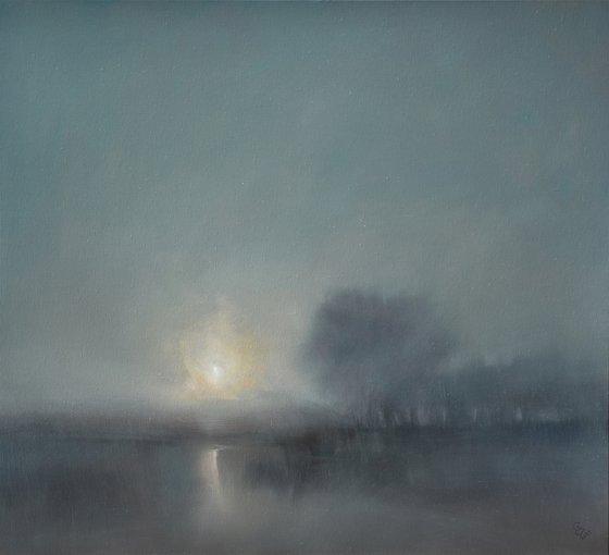 """"""" Misty Sunrise """"   SPECIAL PRICE !!! W 100 x H 90 cm"""