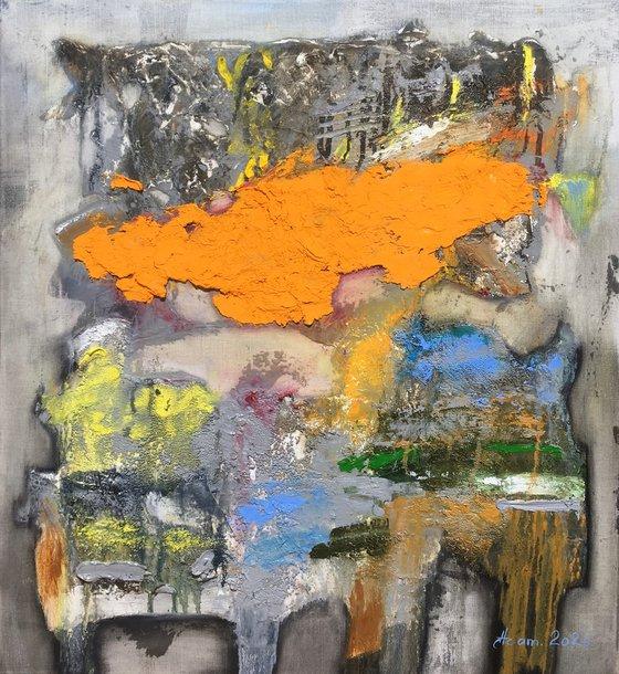 Color dream (60x55cm, oil painting)