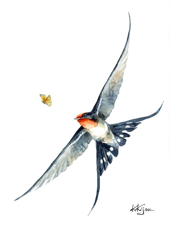 Flying Barn swallow I