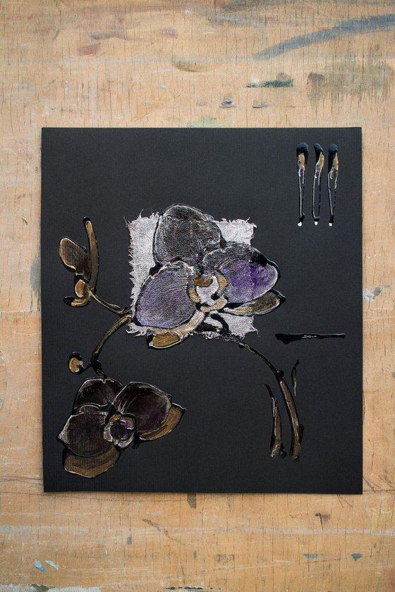 Black orchids on black (or Ultraviolet orchids)