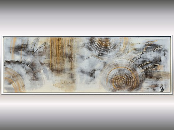 Fossil  - Abstract Art - Acrylic Painting - Canvas Art - Framed Painting - Abstract Painting - Industrial Art