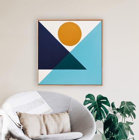 Poise (Geometric Acrylic Painting)