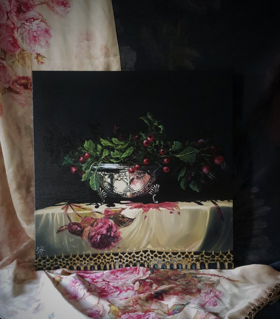 Pink Silver, realistic still life