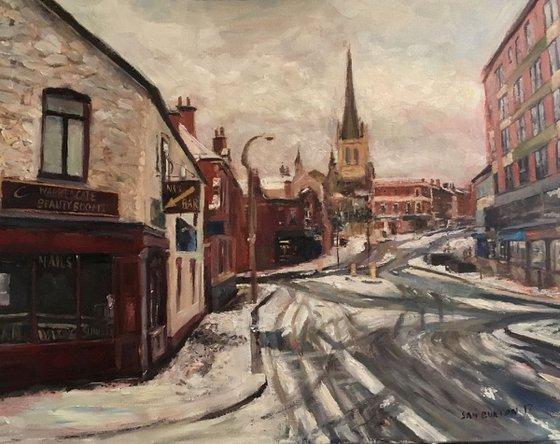 Snow on Warrengate Wakefield