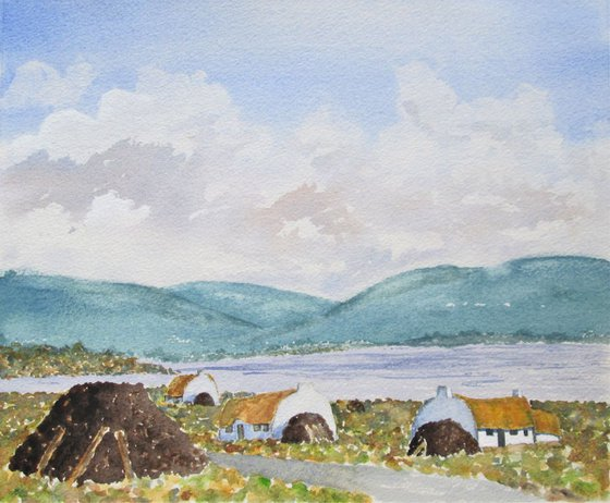 Peat Huts After Paul Henry