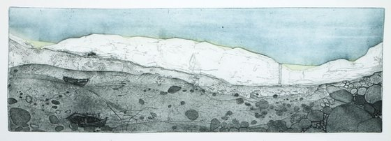 """Heike Roesel """"Between Land and Sea"""", fine art etching, edition of 15 in variation"""