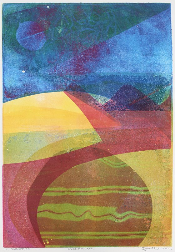 Evening Air - Unmounted Signed Monotype