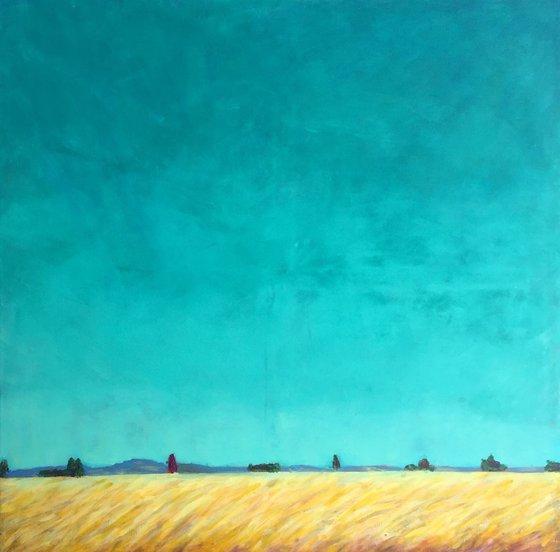 Abstract landscape - Towards Taunus 80 x 80 cm