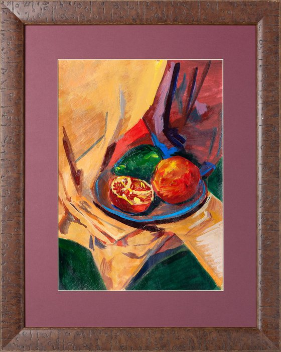 Still life with fruit plate