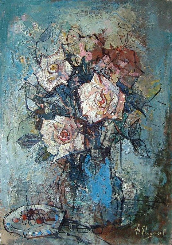 White Roses (50x70 cm)