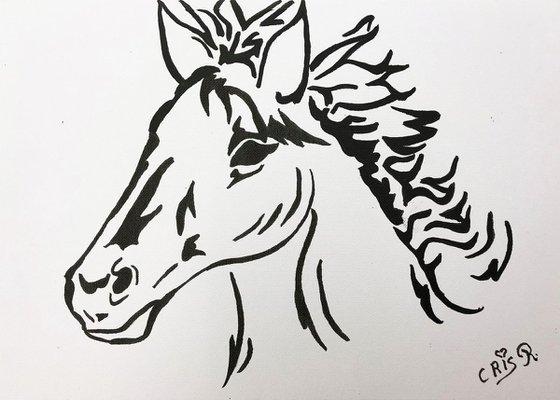 Grande tête de cheval