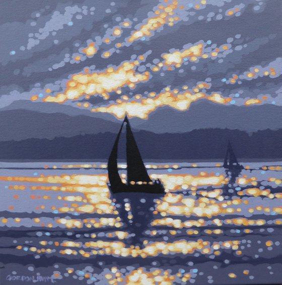 Windermere sunset sailing