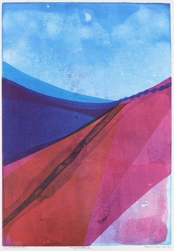 The Track - Unmounted Signed Monotype