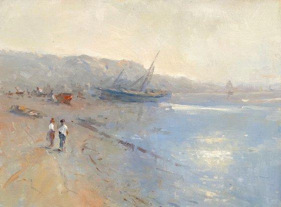 Sunset, Original oil Painting, Handmade artwork, Signed, One of a Kind