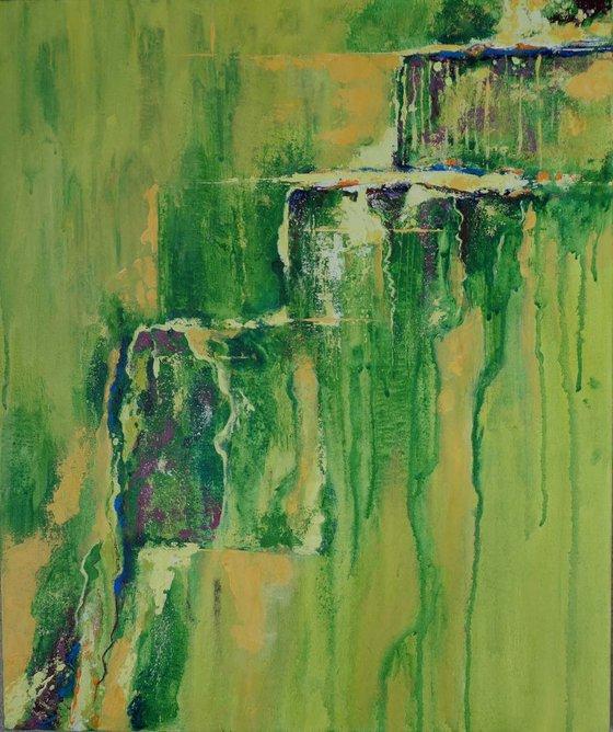 Green fields 60 x 75cm