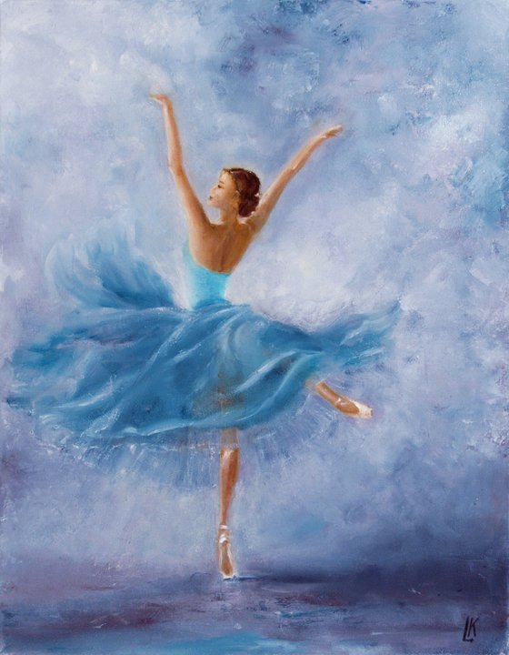Dancer in turquoise