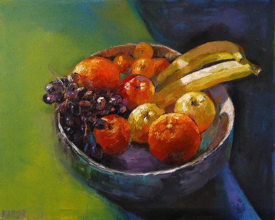 Still life - Autumn colors(40x50cm, oil painting, ready to hang)