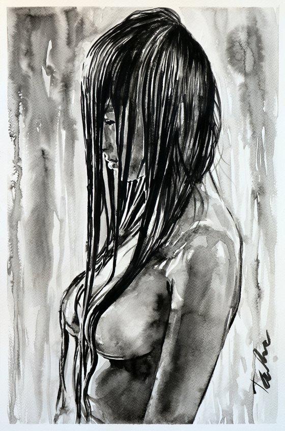 """Cry me a river "" / 30x45 cm"