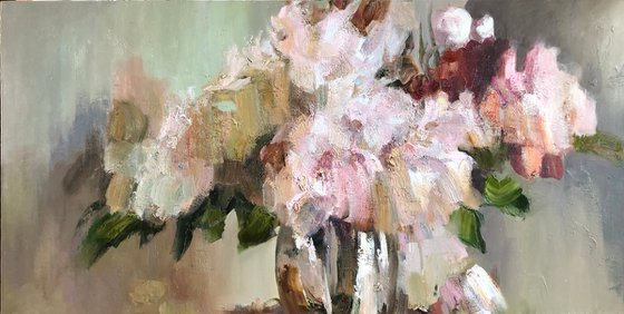 """""""Flowers.""""  copy of the painting by N. Blokhin."""