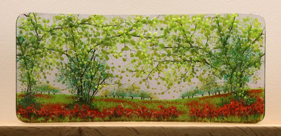 Glass Poppyfield Half Curve (Made to Order)