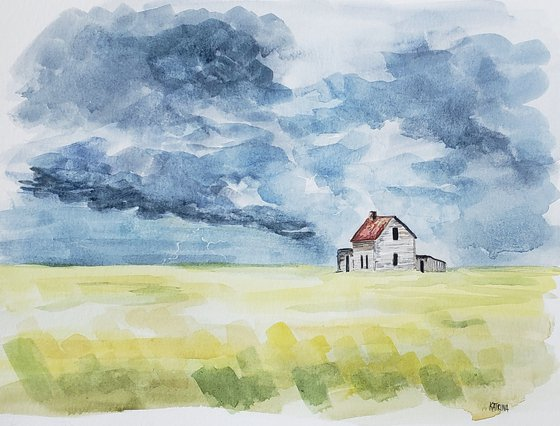 """Echoes of a Prairie Storm"" - Landscape - Thunderstorm"