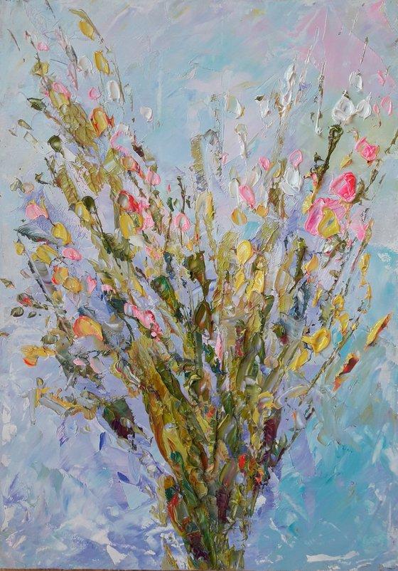 Flowers Painting Floral Original Art Flowers Impasto Floral Flower Painting Art Painting by Kseniya Kovalenko