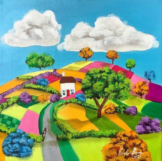 Small naive art landscape