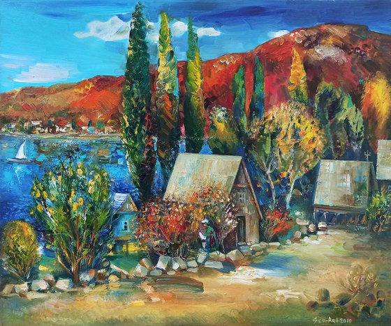 Landscape (60x50cm, oil painting, ready to hang)