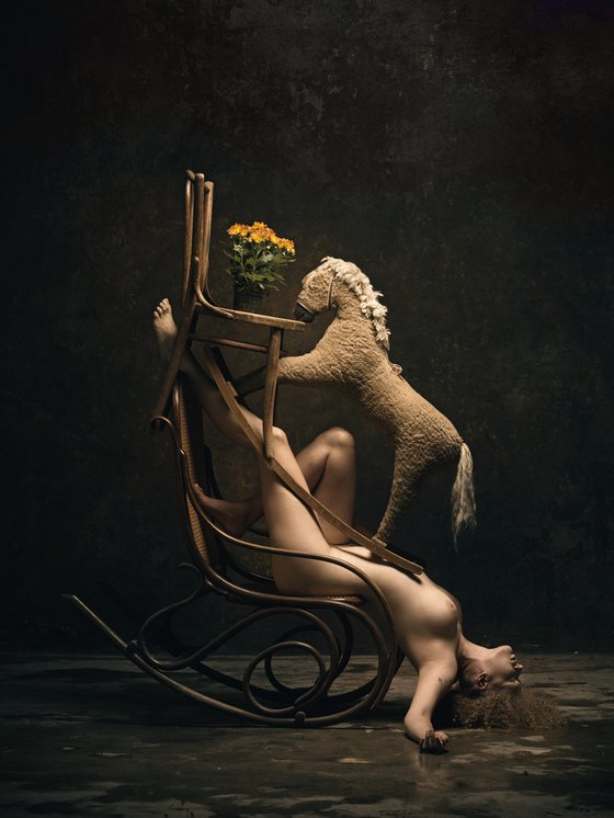 Composition for rocking chair and horse - Art Nude