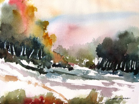 Wilderness Glade - Original Watercolor Painting