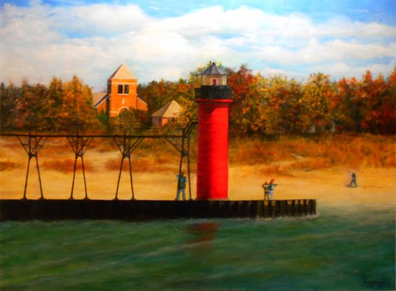 Lighthouse in 4 Seasons: Fall
