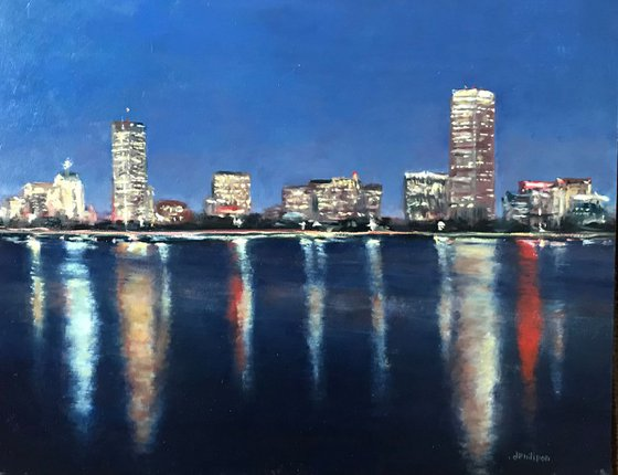Boston Evening Reflections on the Charles River