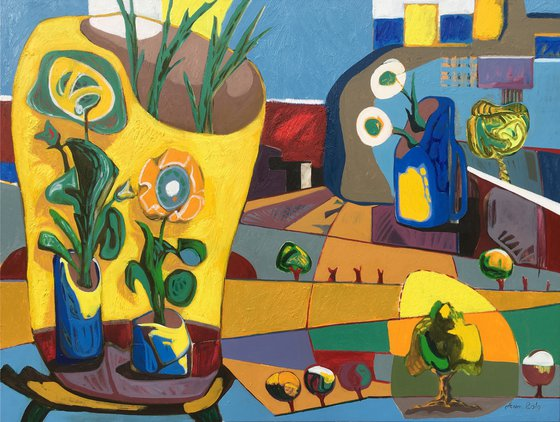 Spring 95x125, oil on canvas,