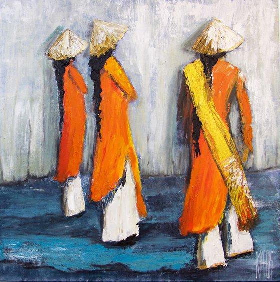 Orange tunics