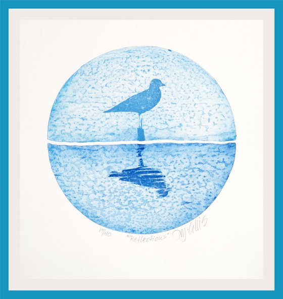 Reflection, aquatint etching