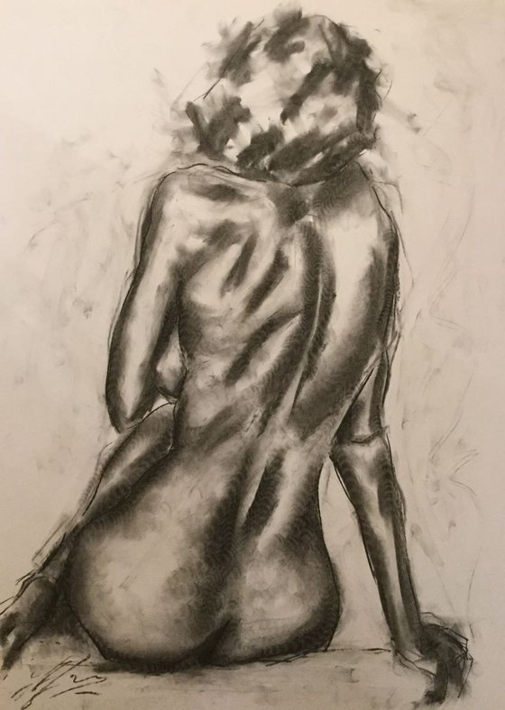 Fortune - Large Charcoal Drawing