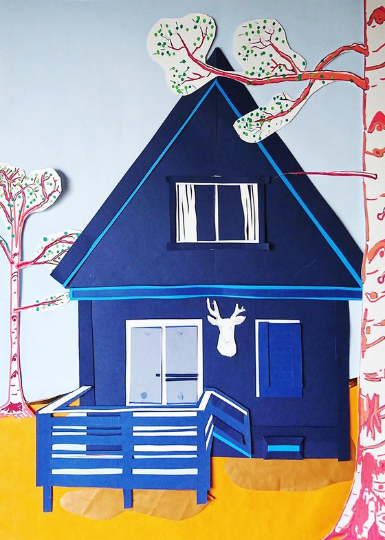 House n°2 : Wooden deer's head
