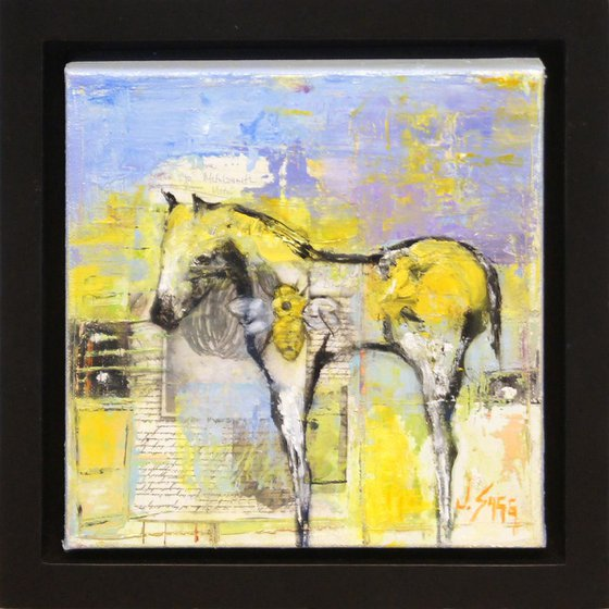 'Untitled Horse' - Abstract Horse Painting Wildlife Art Small Wall Art Original Painting