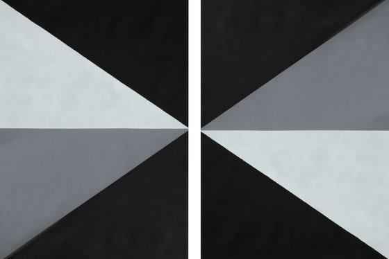 Geometric Shape Diptych 2
