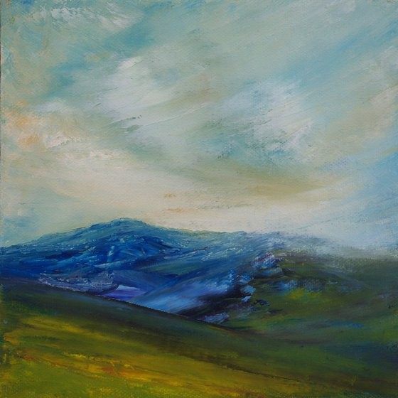 Hawes Blue, English Pennine landscape moorland