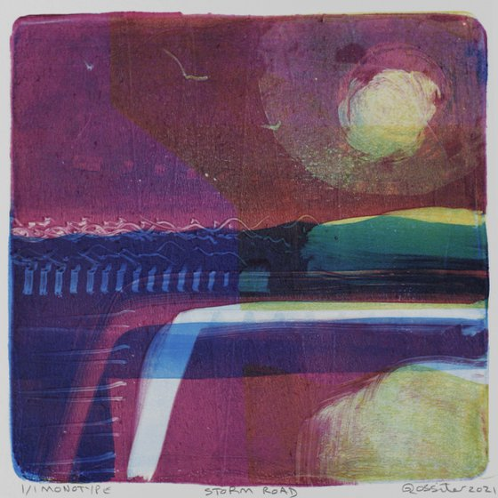 Storm Road - Unmounted Signed Monotype