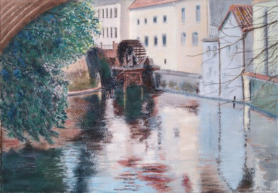 """Old Prague. View of the """"Devil's Mill"""""""